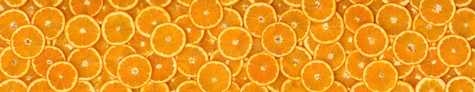 Oranges-panorama 2. Panorama comprised of multiple photos royalty free stock photography