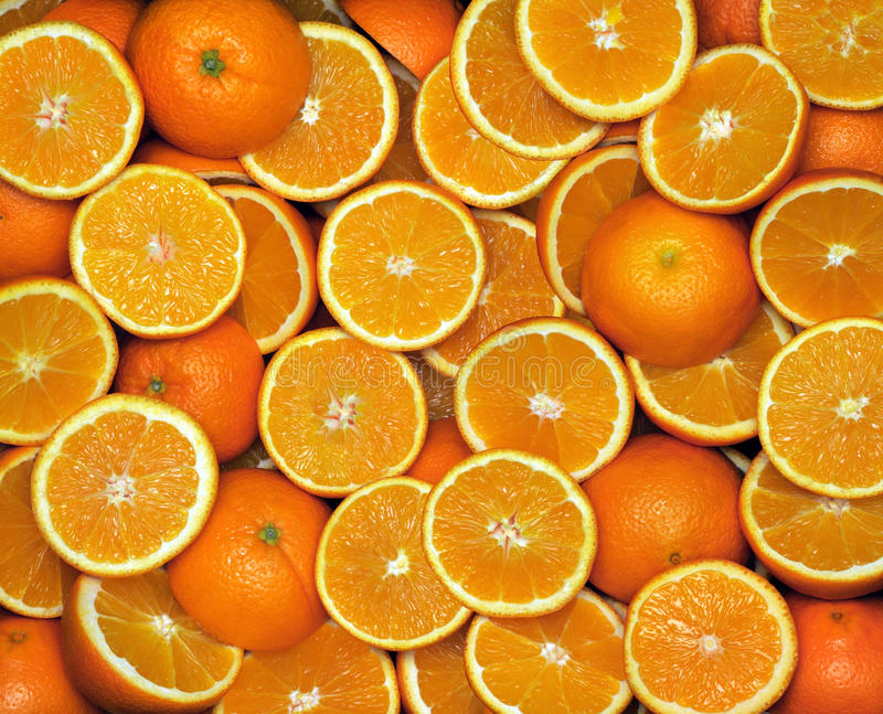 Oranges. Panorama comprised of multiple photos royalty free stock images