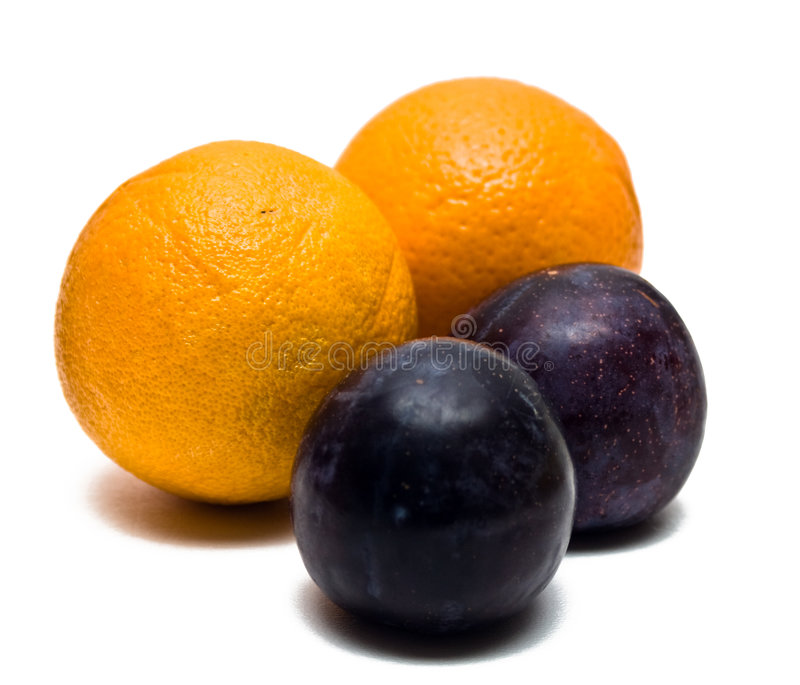 Oranges And Plums Stock Image