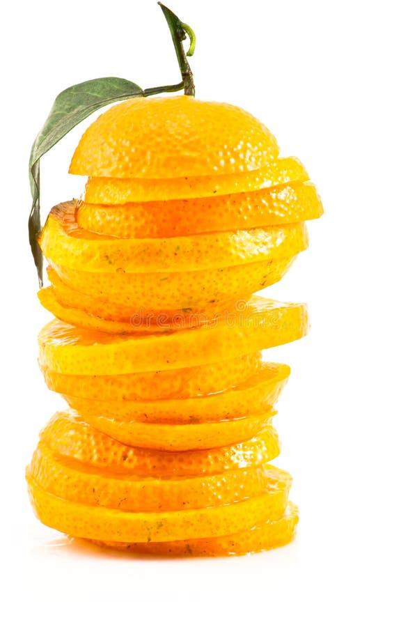 Oranges sliced stock photo