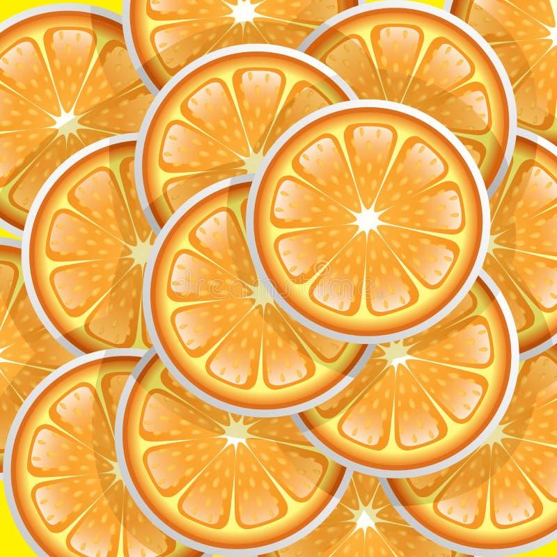 Download Oranges slices pattern stock vector. Image of summer - 24807142