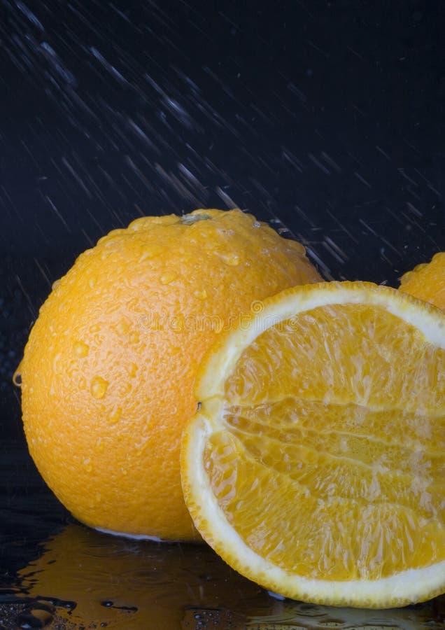 Oranges sous la pluie photo stock