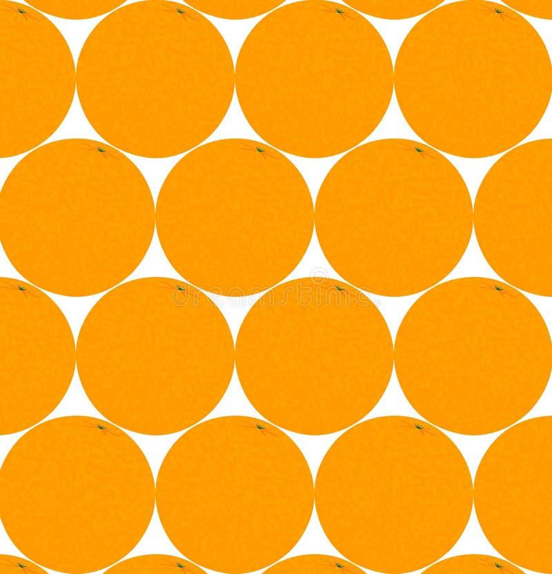 Oranges sur un fond blanc illustration stock