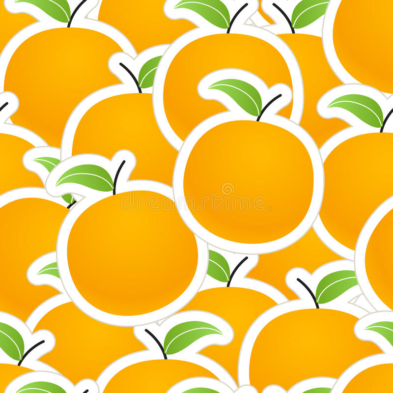 Oranges texture. Group of oranges seamless background royalty free illustration