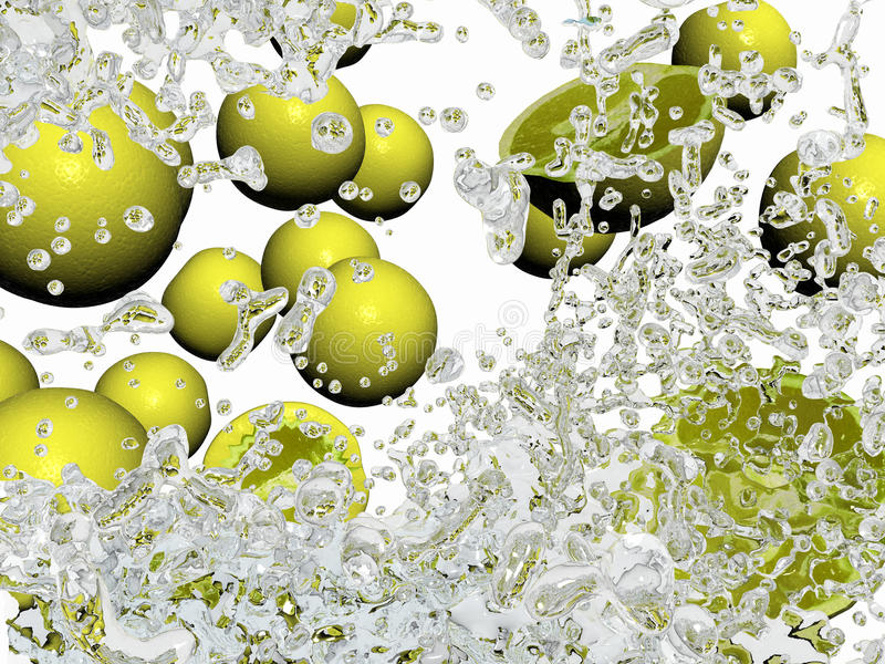 Download Oranges In Water Splashes Stock Photo - Image: 19579480