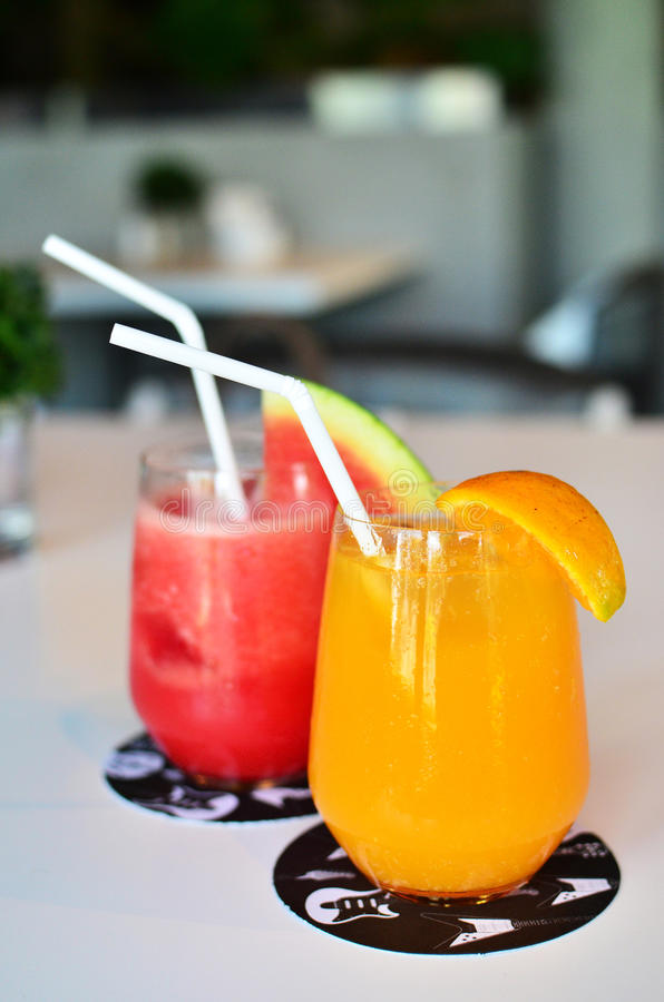 Download Oranges And Watermelon Smoothie Stock Image - Image: 25190573