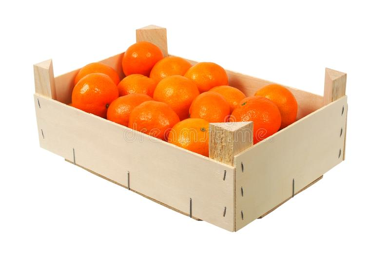 Oranges in a box stock photo