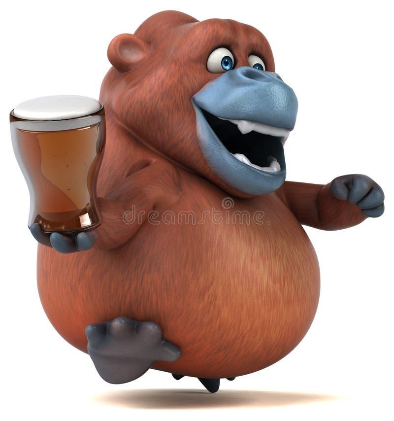 Orangotango do divertimento - ilustração 3D ilustração stock