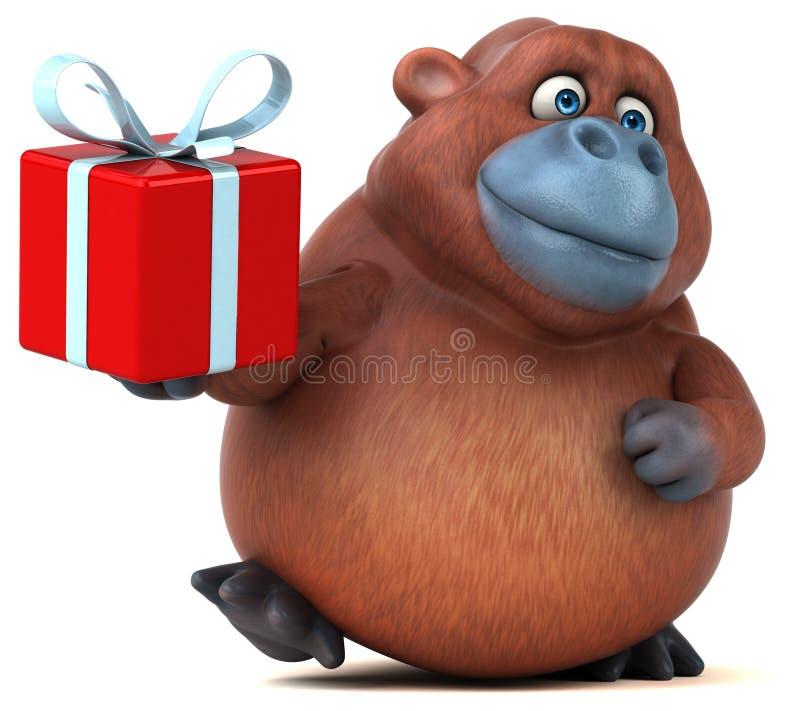 Orangotango do divertimento - ilustração 3D ilustração do vetor