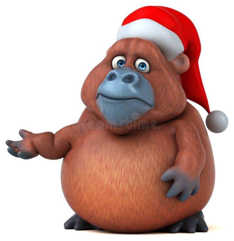 Orangotango do divertimento - ilustração 3D ilustração royalty free