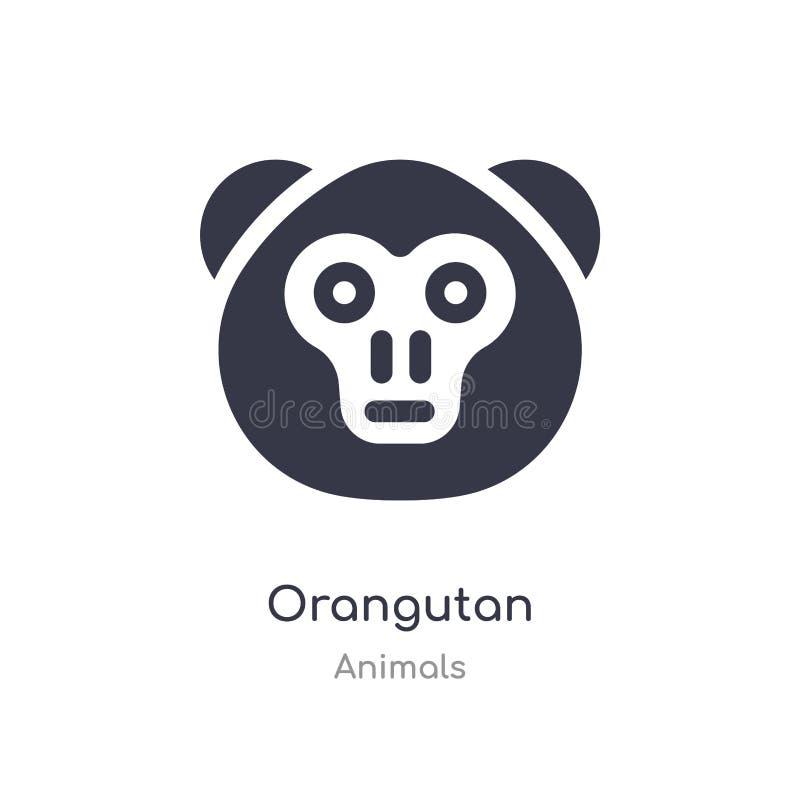 orangutan εικονίδιο απομονωμένη orangutan διανυσματική απεικόνιση εικονιδίων από τη συλλογή ζώων r διανυσματική απεικόνιση