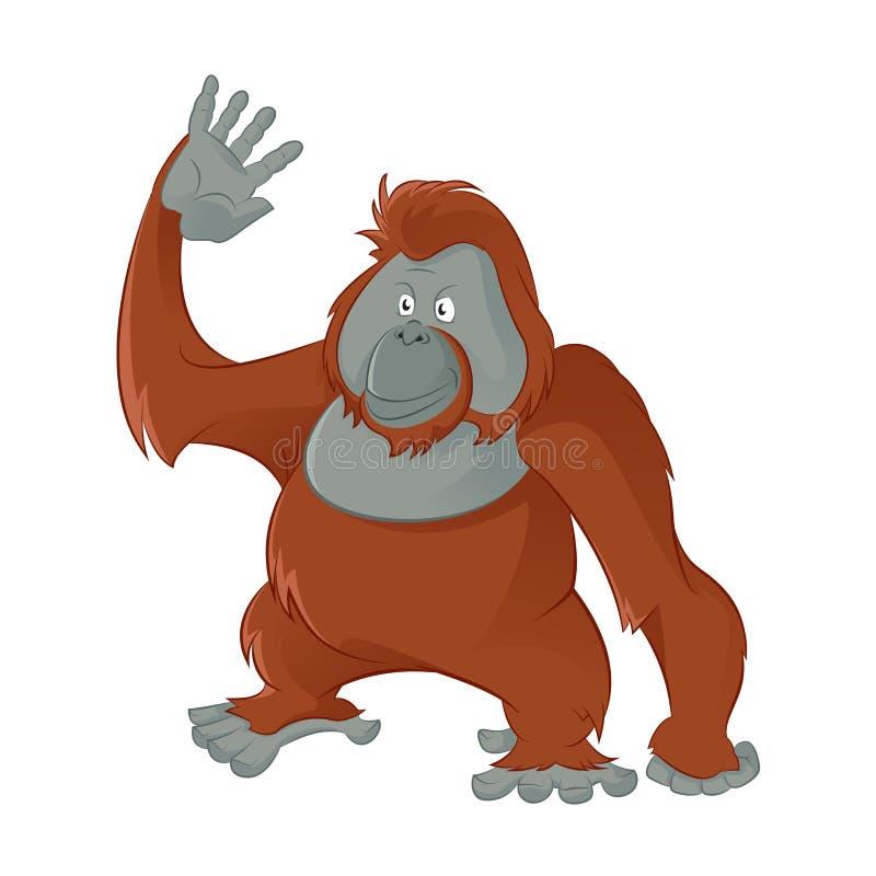 Orangutan διανυσματική απεικόνιση