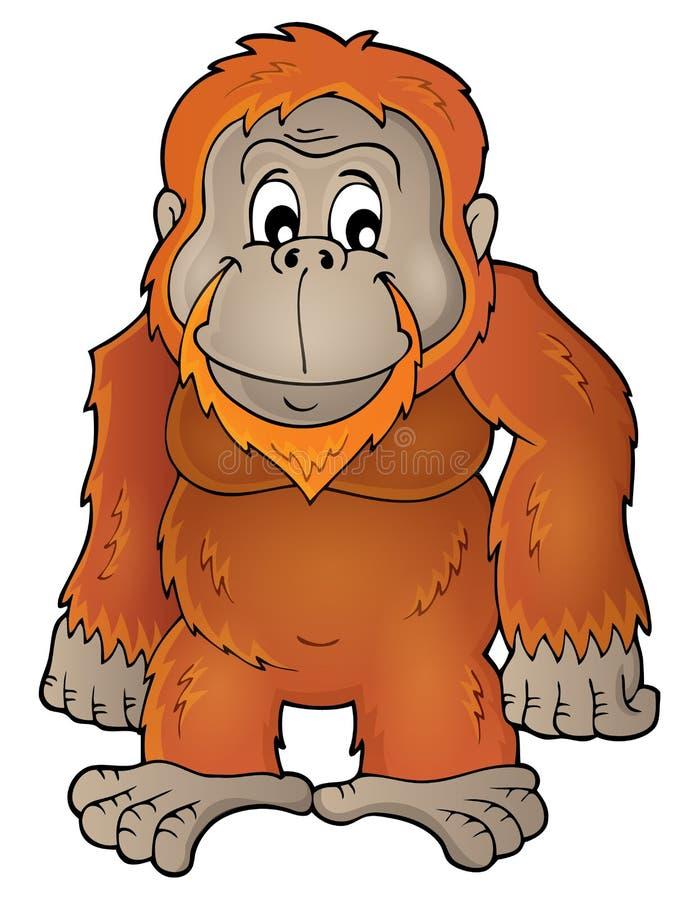 orangutan theme image 1 stock vector illustration of wildlife rh dreamstime com orange orangutan clipart baby orangutan clipart