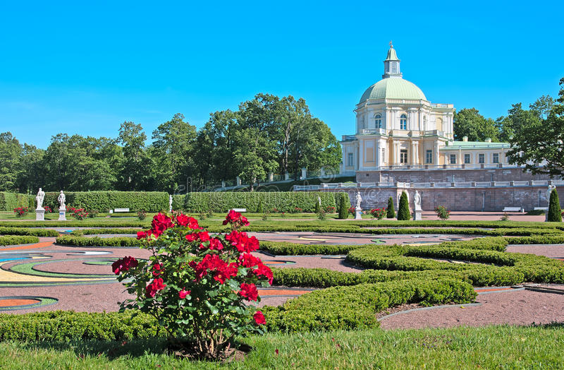 Oranienbaum (Lomonosov) Άγιος-Πετρούπολη Το μεγάλο παλάτι Menshikov Το ιαπωνικό περίπτερο στοκ φωτογραφία με δικαίωμα ελεύθερης χρήσης