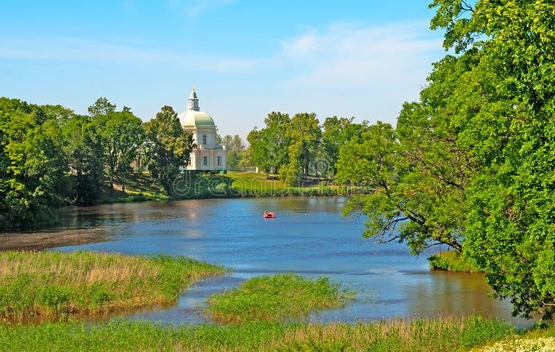 Oranienbaum (Lomonosov) Άγιος-Πετρούπολη Το μεγάλο παλάτι Menshikov Το ιαπωνικό περίπτερο στοκ εικόνες