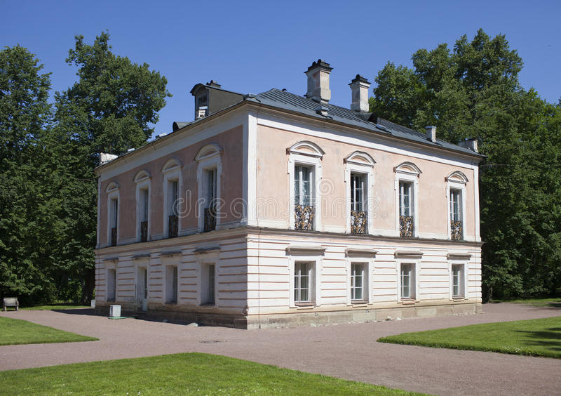 Oranienbaum (Lomonosov). Upper park. Palace of the emperor Pyotr III. Oranienbaum (Lomonosov). Upper park. Palace of emperor Pyotr III stock photo