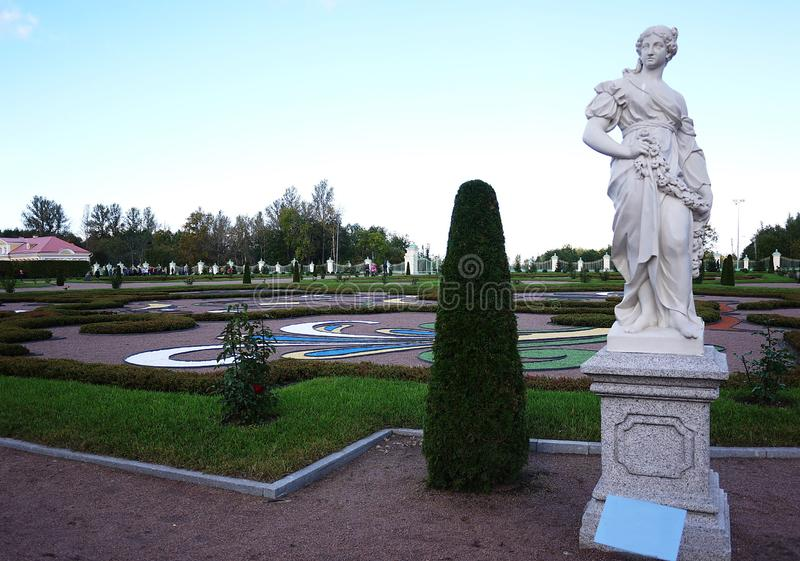 Oranienbaum-Museum-reserve. In this Park, in St. Petersburg there is a beautiful Park and the former Palace of tsars of Imperial R. Oranienbaum-Museum-reserve stock images