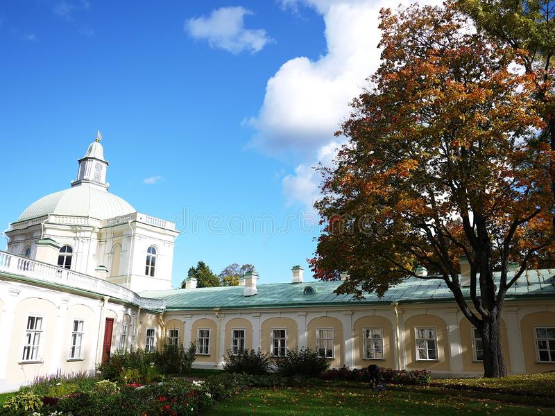 Oranienbaum-Museum-reserve. In this Park, in St. Petersburg there is a beautiful Park and the former Palace of tsars of Imperial R. Oranienbaum-Museum-reserve stock photography