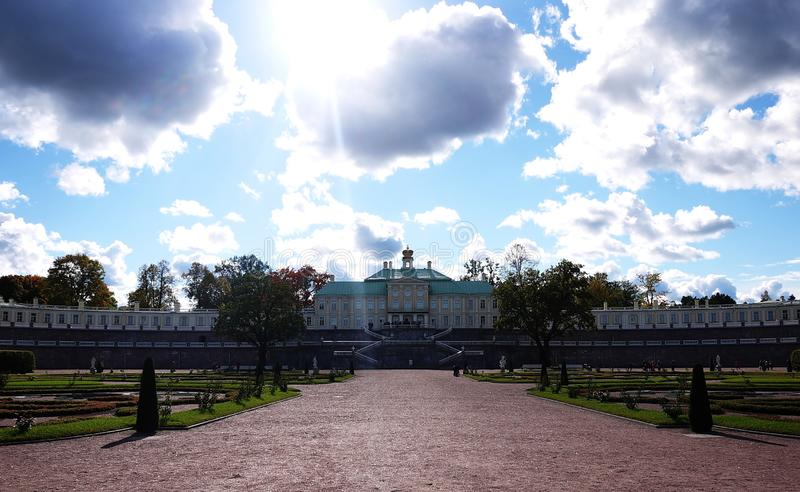 Oranienbaum-Museum-reserve. In this Park, in St. Petersburg there is a beautiful Park and the former Palace of tsars of Imperial R. Oranienbaum-Museum-reserve royalty free stock photo