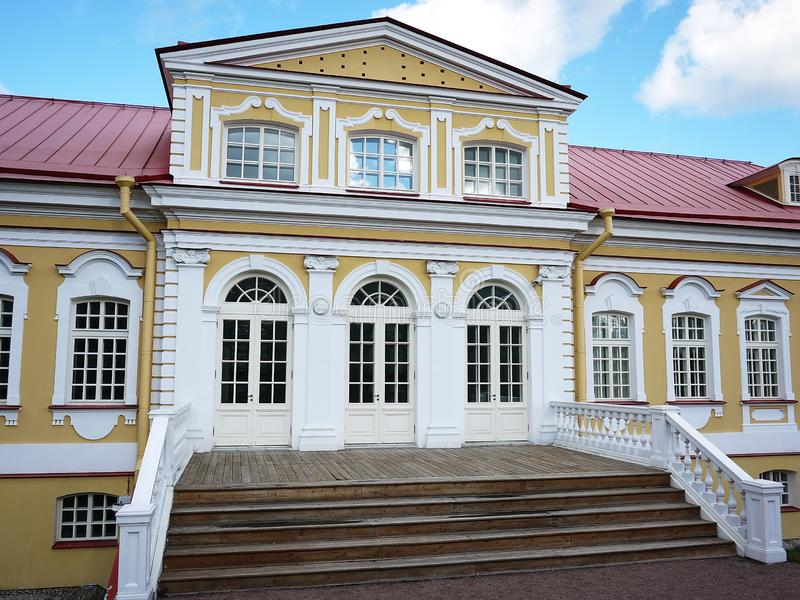 Oranienbaum-Museum-reserve. In this Park, in St. Petersburg there is a beautiful Park and the former Palace of tsars of Imperial R. Oranienbaum-Museum-reserve stock photos
