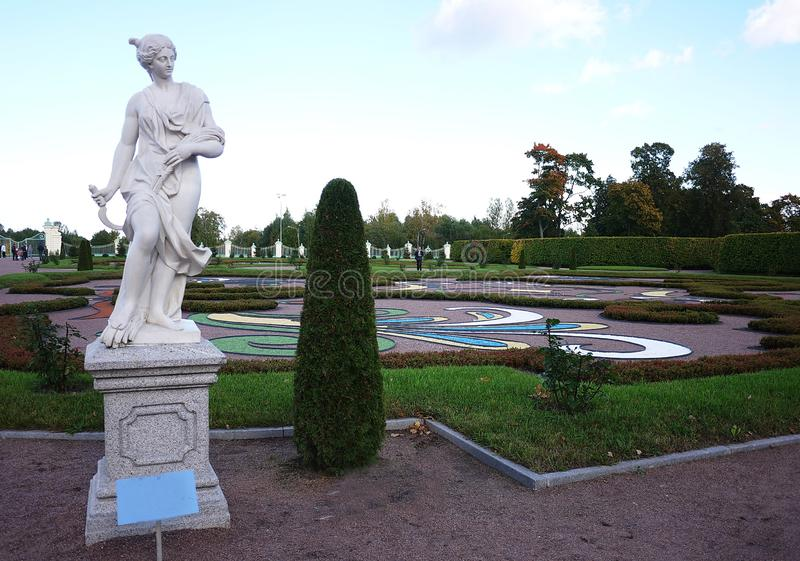 Oranienbaum-Museum-reserve. In this Park, in St. Petersburg there is a beautiful Park and the former Palace of tsars of Imperial R. Oranienbaum-Museum-reserve stock photo