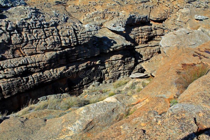 Oranje河峡谷和石头沙漠风景 免版税库存照片