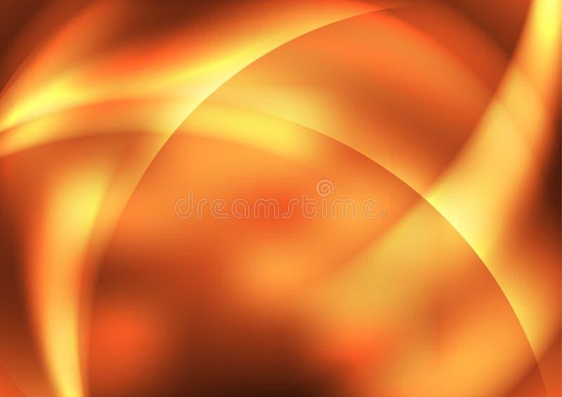Oranje abstracte achtergronden stock illustratie
