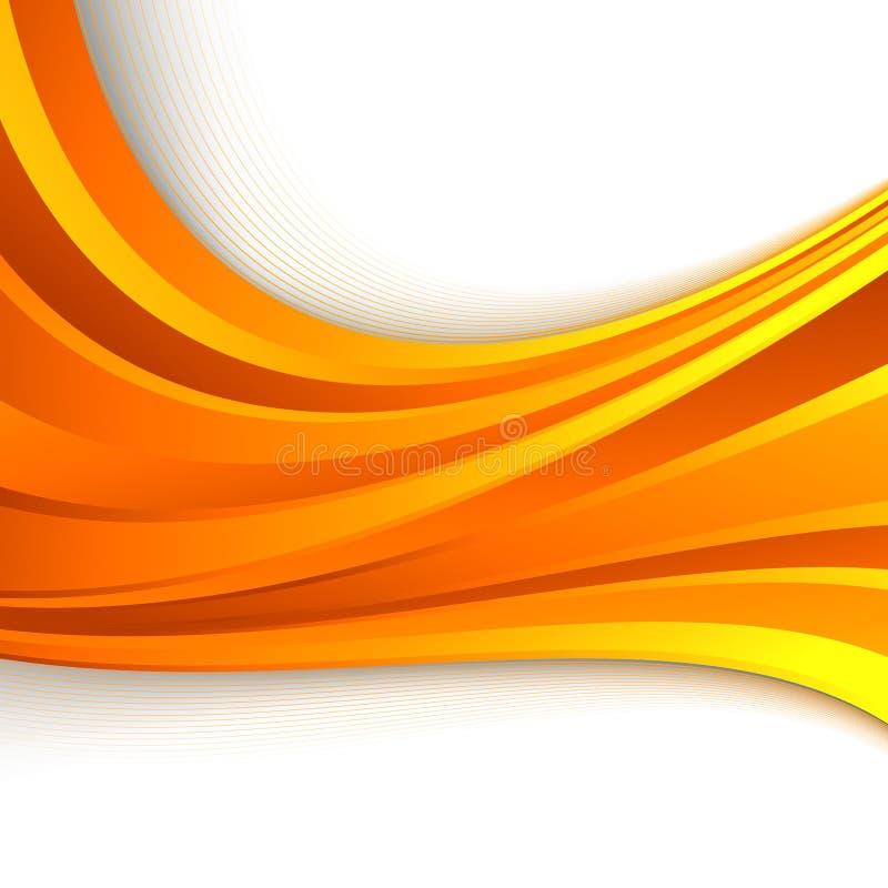 Oranje abstracte heldere golfachtergrond vector illustratie
