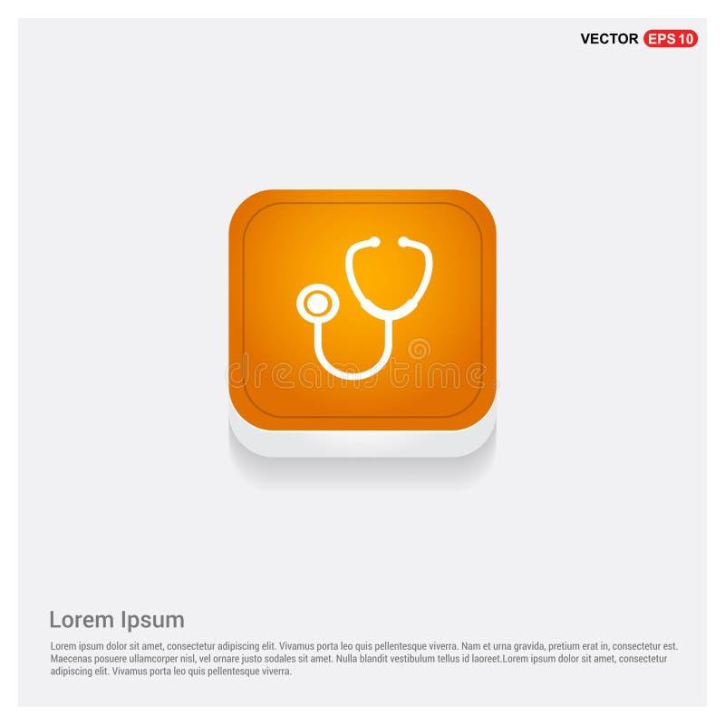 Oranje Abstracte het Webknoop van het stethoscooppictogram stock illustratie