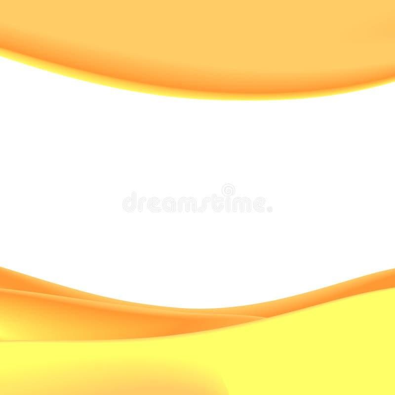 Oranje Achtergrond royalty-vrije illustratie