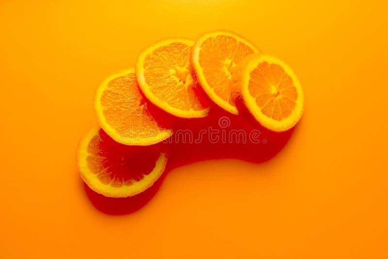Oranje Achtergrond stock foto's