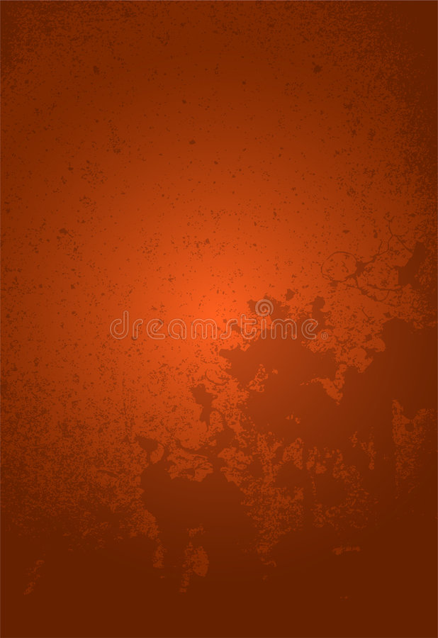 Oranje Achtergrond Grunge royalty-vrije illustratie