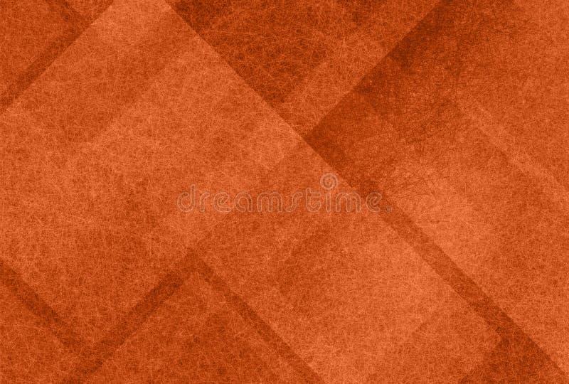 Oranje achtergrond met abstracte lagen witte geweven vormen stock fotografie