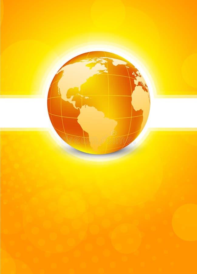 Oranje achtergrond met bol stock illustratie