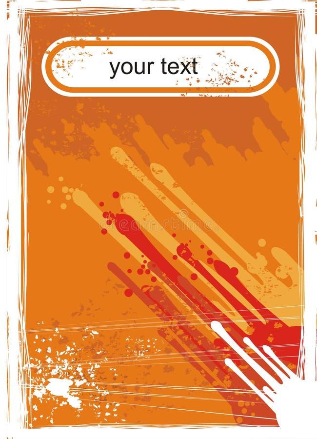 Oranje achtergrond voor titel stock foto