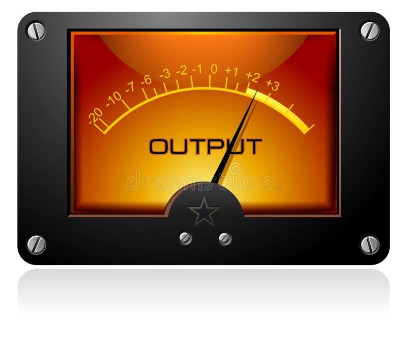 Oranje Analoge Meter stock illustratie