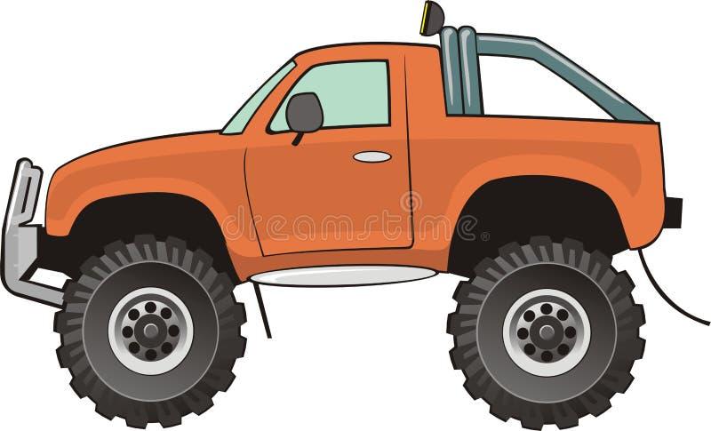 Oranje bestelwagen stock illustratie