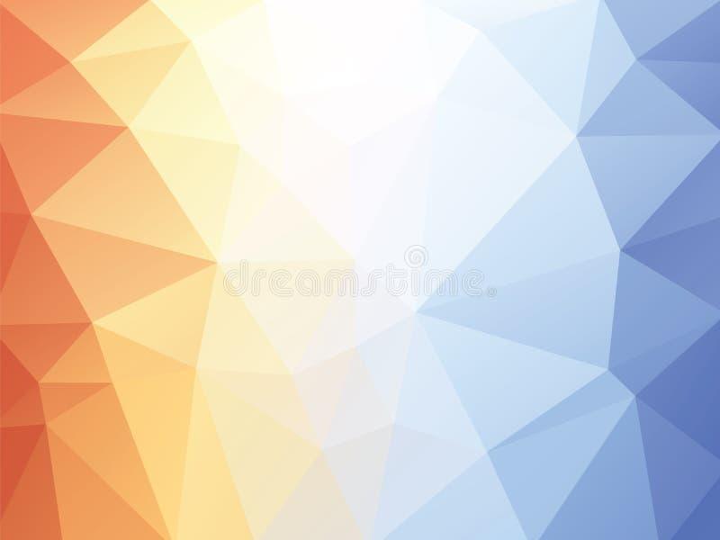 Oranje blauwe textuurachtergrond vector illustratie