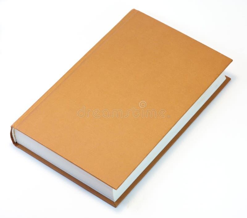 Oranje boek dat op wit wordt geïsoleerdg. Maak dekking schoon stock foto's