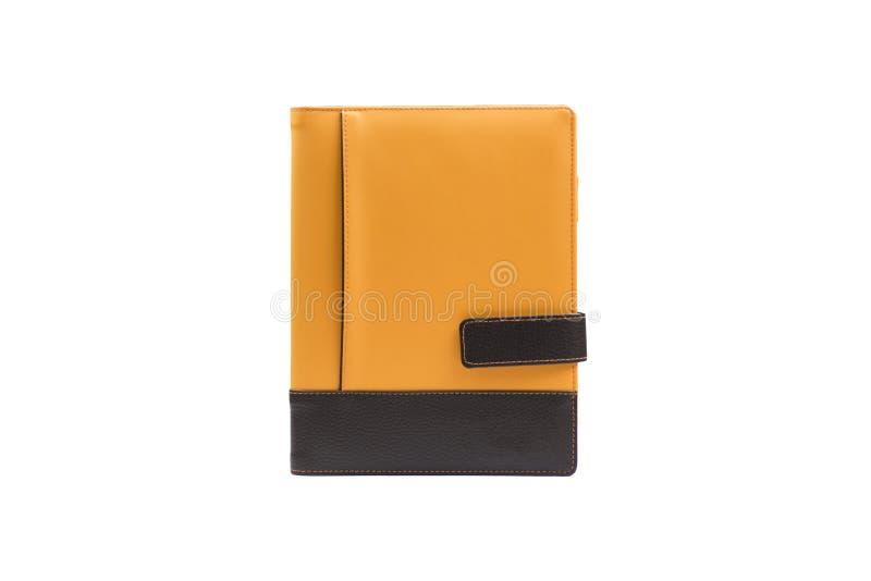 Oranje boekagenda stock afbeelding
