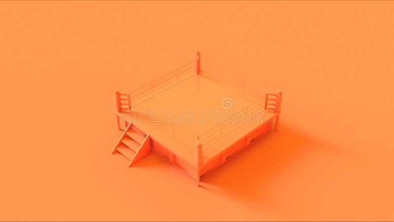 Oranje Boksring royalty-vrije illustratie