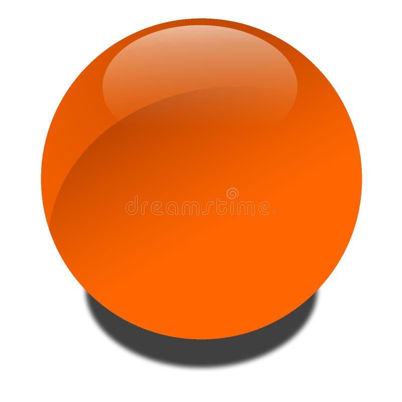 Oranje Bol Stock Afbeelding