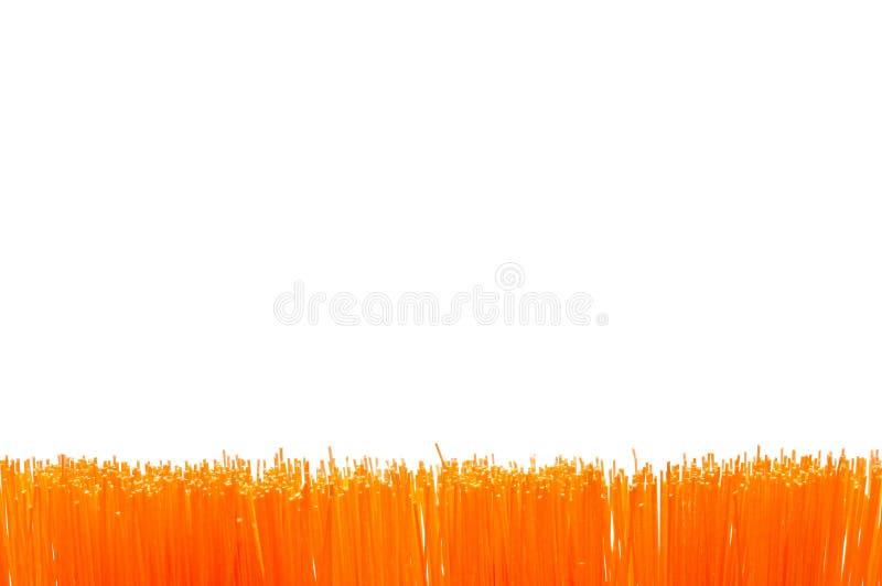 oranje borstelgrens royalty-vrije stock afbeelding