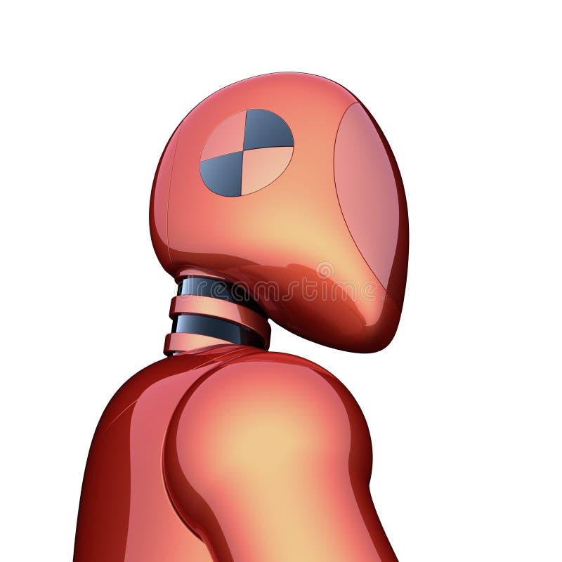 Oranje bot van robot futuristisch cyborg androïde rood karakterconcept royalty-vrije illustratie