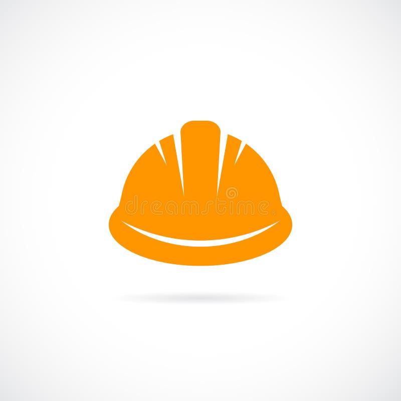 Oranje bouwvakker vectorpictogram vector illustratie