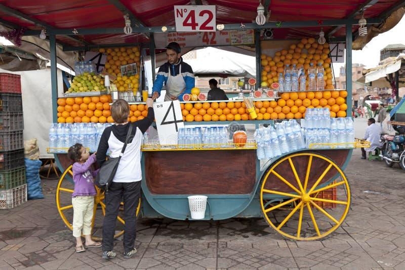 Oranje box in Marrakech royalty-vrije stock afbeelding