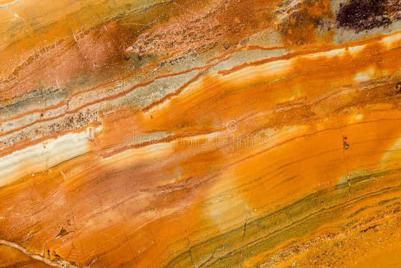 Oranje, Bruin, en Wit Opgepoetst Graniet royalty-vrije stock foto's