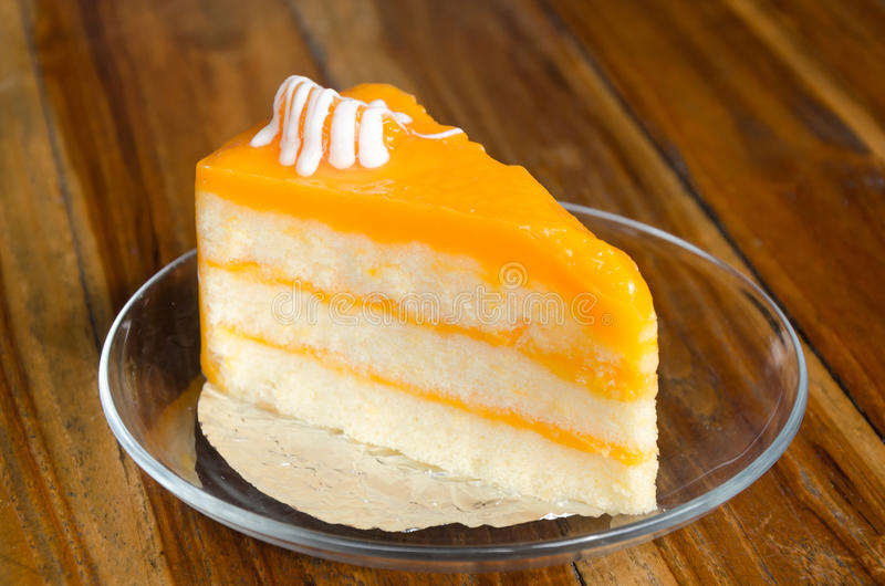 Oranje cake stock afbeeldingen