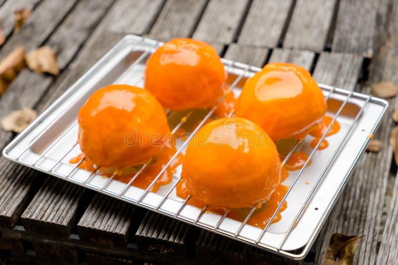 Oranje cake royalty-vrije stock fotografie