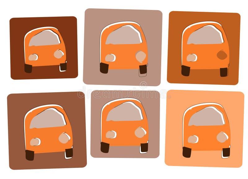 Oranje cars2 royalty-vrije stock afbeeldingen